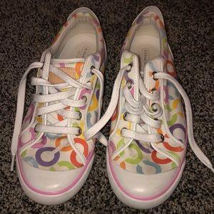 """Women's Coach Sneakers Size 8 Pastel colors """"C"""""""